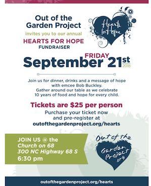 Hearts for Hope Fundraiser September 21